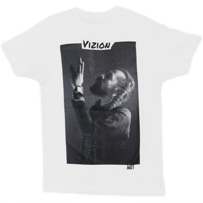 Vizion Shirt weiss hinten